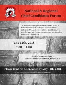 National & RegionalChief Candidates Forum V3